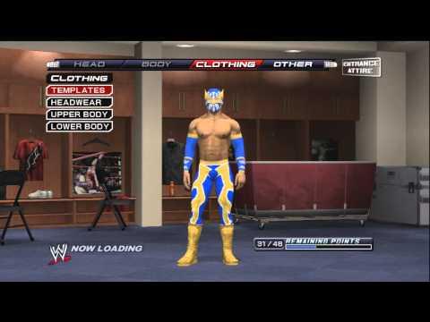 How to make Sin Cara ( Mistico ) On WWE Smackdown VS Raw 2011 / SVR 2011 ( tutorial )