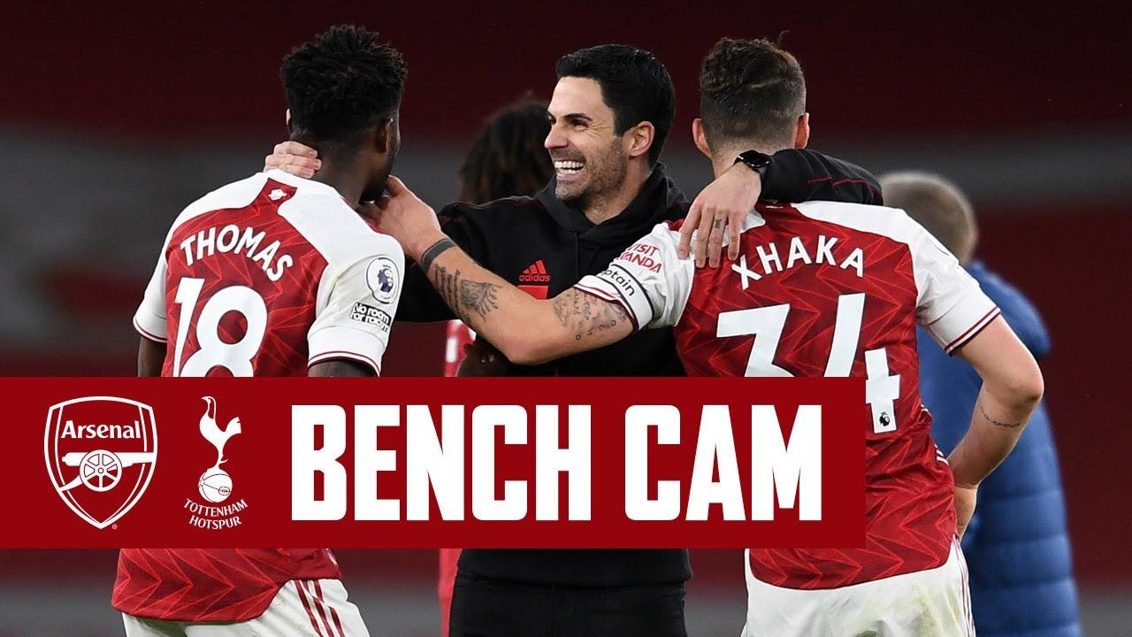 BENCH CAM | Arsenal vs Tottenham (2-1) | Pure derby delight at Emirates Stadium! | Premier League