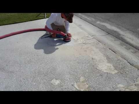 How to grind rough concrete. Atlanta,GA