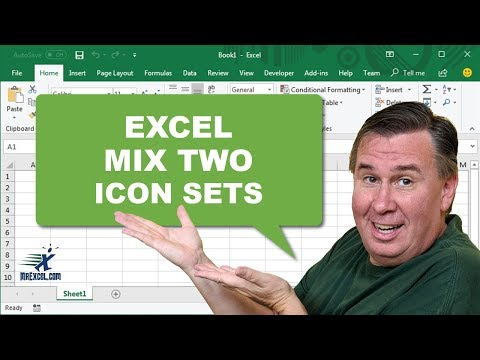 Learn Excel - Mix 2 Icon Sets: Podcast #1377