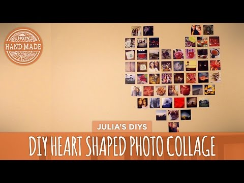 DIY Heart Photo Collage - HGTV Handmade
