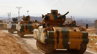 Turkish army convoy enters Syria
