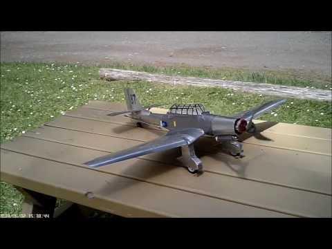 Homemade RC Aluminum Plane,1935 Junkers JU87 Stuka