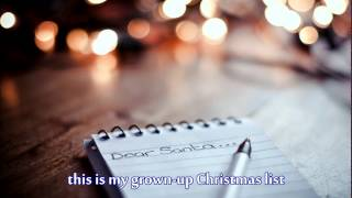 Grown Up Christmas List Lyrics.Kelly Clarkson My Grown Up Christmas List Yoon So Ri