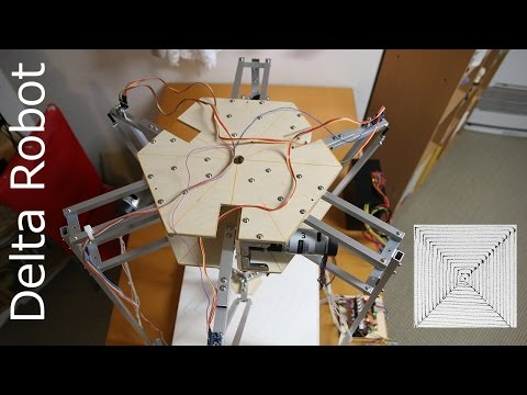 Delta Robot Draws Squares