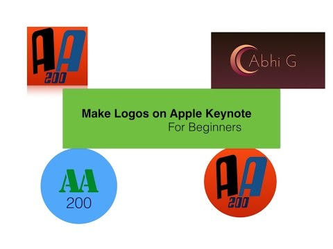 How To Make a Logo (For Beginners) | Apple Keynote
