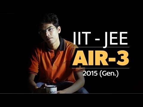 IIT JEE Advanced Topper - AIR 3 Mukesh Pareek sharing his tips to Crack IIT JEE.