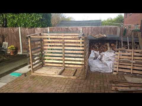 Pallet wood and scrap wood log store