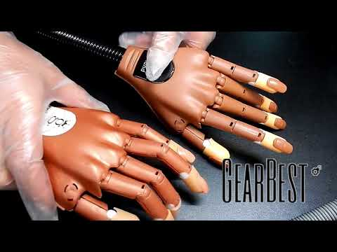 FAKE nail Trainer Hand REVIEW & Comaprison to the REAL Nail Trainer hand --- GEAREST REVIEWS