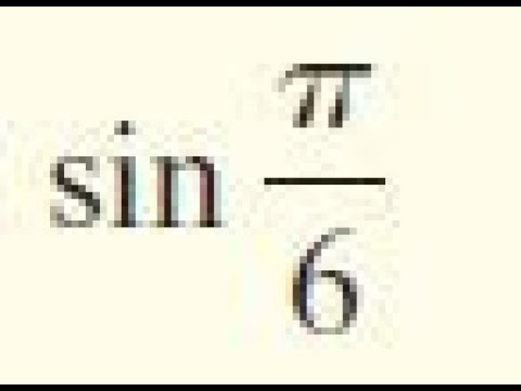 sin pi/6 find the exact value