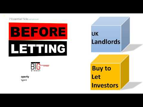 Landlords 7 Essential Tips | Before Letting Property | UK Wide Agent | Big Street Lettings