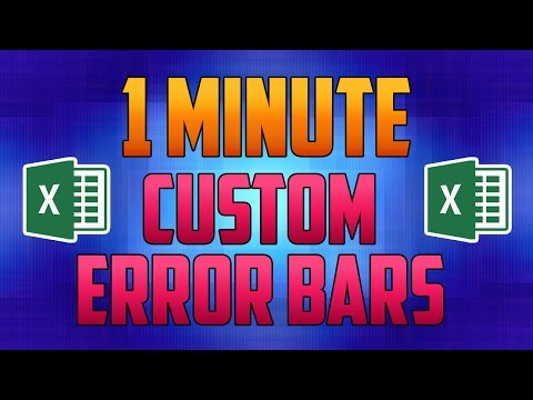 Excel 2016 : How to Add Custom Error Bars