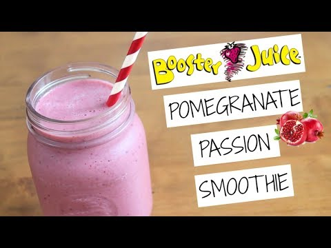 6 ingredient Pomegranate Passion Smoothie | SweetTreats