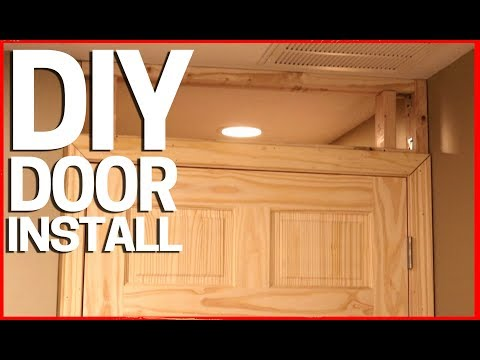 How to Install a Door In Existing Room or Space Over Drywall