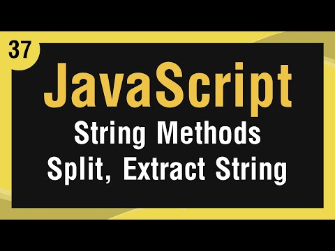 [ JavaScript In Arabic ] #37 - Strings Methods - Split A String