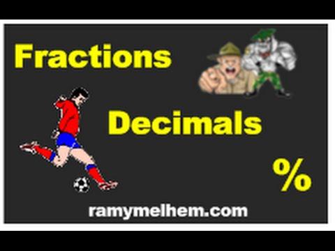 Fraction, Decimal, Percents Conversions