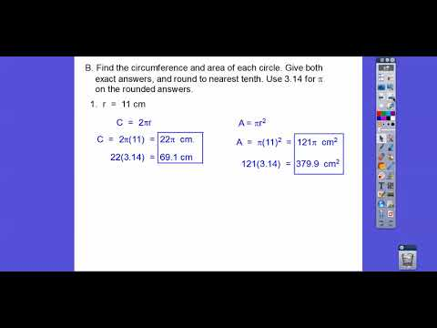 Circumference and Area of Circles - Module 20.1