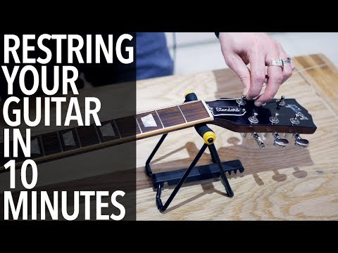 RESTRING YOUR GUITAR in 10 MINUTES!