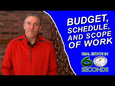 Creating a Budget, Schedule, and Scope of Work