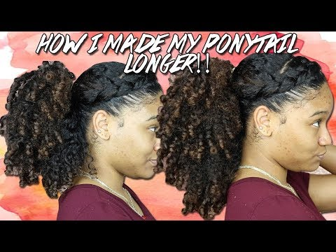 How to fake longer hair WITHOUT extensions/weave !