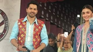Varun Dhawan and Alia bhatt || Lovely Professional University || For Kalank Promotion || 17th April