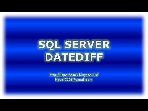 DATEDIFF in SQL Server