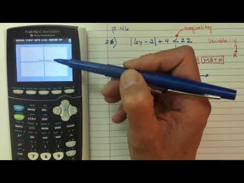 Absolute Value Equations and Inequalities in One Variable via Calculator