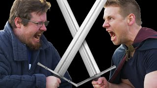 Can I teach a MEGA NOOB how to SWORD FIGHT? feat, Draw with Jazza!