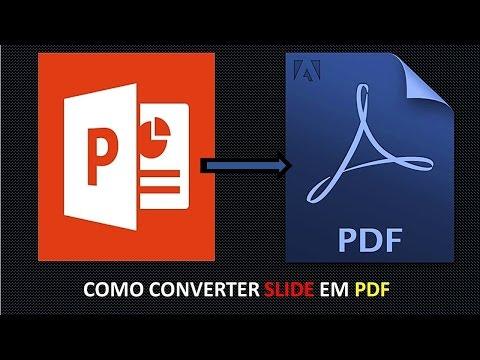 Como converter um Slide POWER POINT em PDF