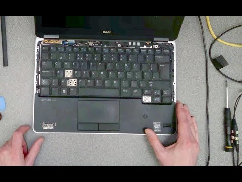 Dell Latitude E7240: How to replace the keyboard
