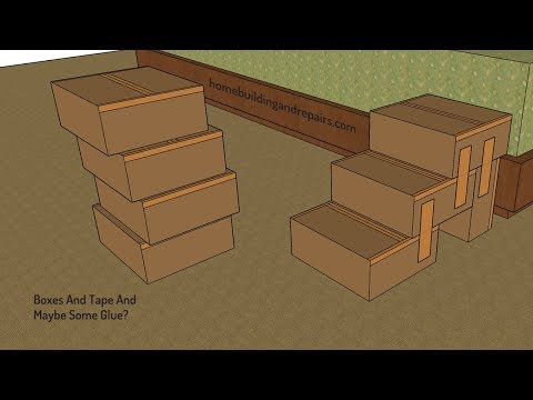 Build Your Own Pet Stairs With Cardboard Boxes And Tape