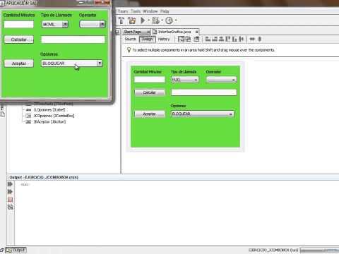 NetBeans 8.0 + JAVA + Librería Paquete SWING + GUI + JComboBox Parte 01