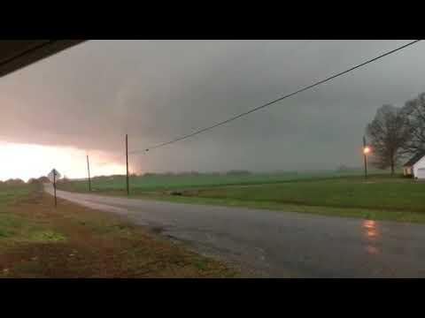 Tornado in Russellville, Alabama.