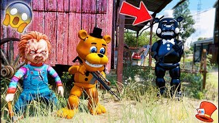 CAN ADVENTURE FREDDY & EVIL DOLL CHUCKY HIDE FROM INK FREDDY? (GTA 5 Mods For Kids FNAF RedHatter)
