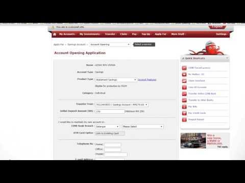 Cara buat akaun cimb baru guna cimbclick + apply kad debit online