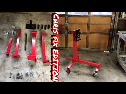 HARBOR FREIGHT ENGINE STAND REVIEW AND ASSEMBLY