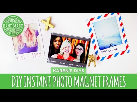 DIY Instant Photo Magnet Frames - HGTV Handmade