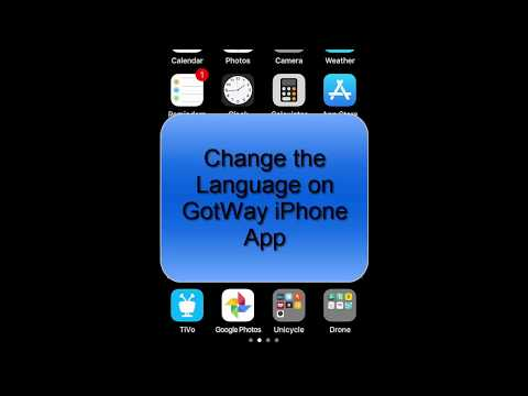 Change Language in iPhone GotWay App