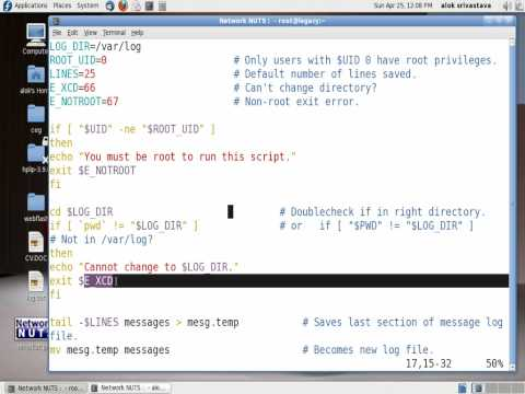 Bash Script - Cleaning Logs automatically | How to set up log cleaning - Networknuts