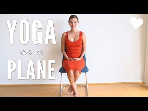 Yoga on an Airplane - Travel Yoga