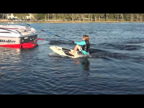 How to get up and start wake surfing. Instruction by Darin Shapiro with the Malibu Wakesetter 23 LSV