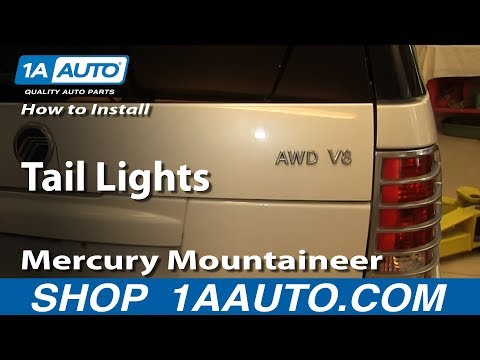 How To Install Replace Tail Lights 2002-10 Mercury Mountaineer