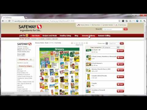 How to use the Safeway website for coupons and deals