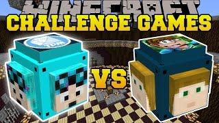 Minecraft: DANTDM VS CRAINER CHALLENGE GAMES - Lucky Block Mod - Modded Mini-Game
