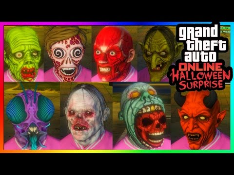 GTA 5 Online Halloween Surprise DLC - All NEW Masks! (GTA 5 Online