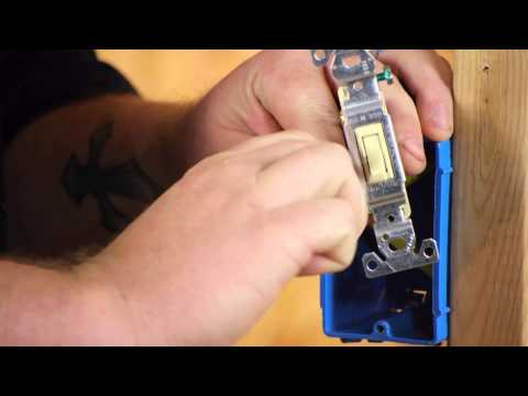 How to Wire a Ceiling Fan Power Source in a Switch Box : DIY Electrical Work