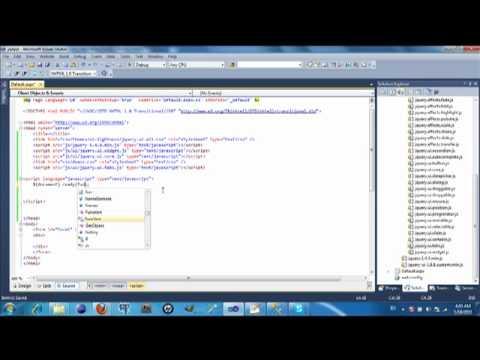 JQuery UI in Visual Studio 2010