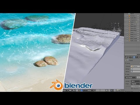 Beach Waves - Blender Fluid Tutorial : 1 of 2