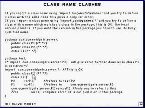 Java Tutorial 4.10 Packages Part 10/12 -  class name clashes