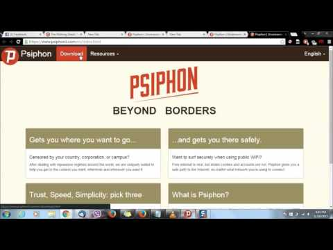 Free Internet:  Connect Psiphon on your Computer